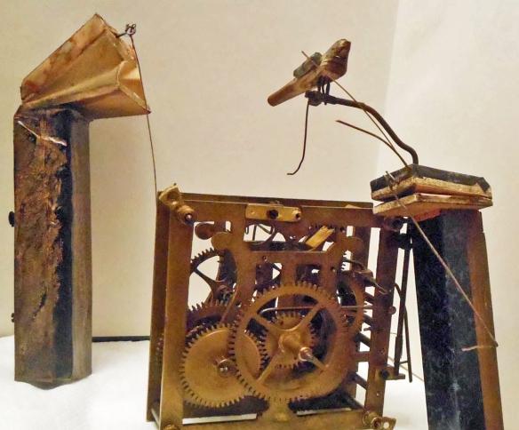 Meccanismo, movimento e soffiettti di un orologio a cucù - Germania, prima metà dell'Ottocento