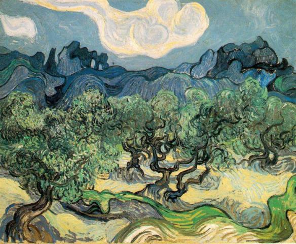 Vincent Van Gogh - Alberi di ulivo (1889)