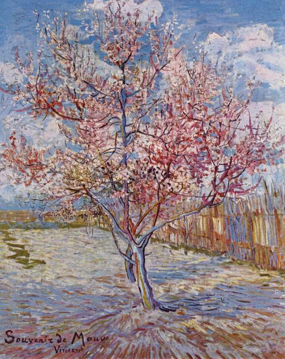 "Vincent van Gogh - Flowering peach trees (""Souvenir de Mauve"")"
