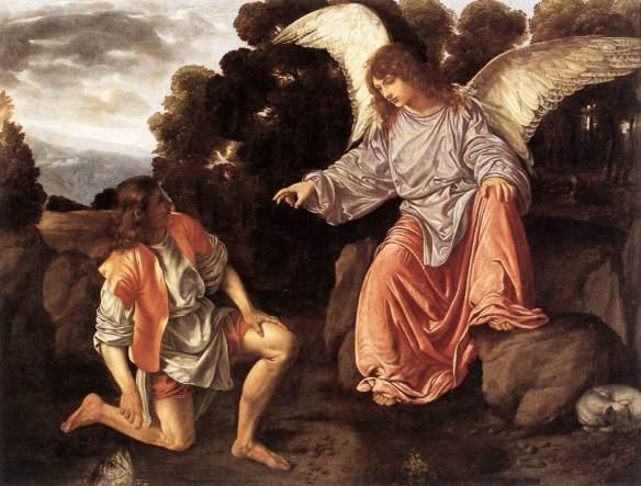 Giovanni Gerolamo Savoldo, Tobia e l'angelo,  olio su tela, 1527 circa, Galleria Borghese, Roma