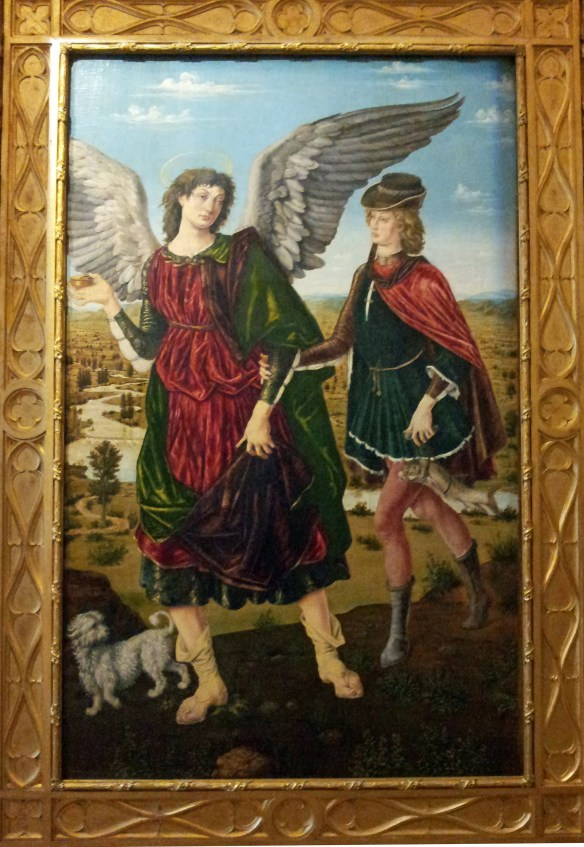 Antonio e Pietro del Pollaiolo, L'arcangelo Raffaele e Tobiolo, 1465-70, Museo Civico di Palazzo Madama, Torino