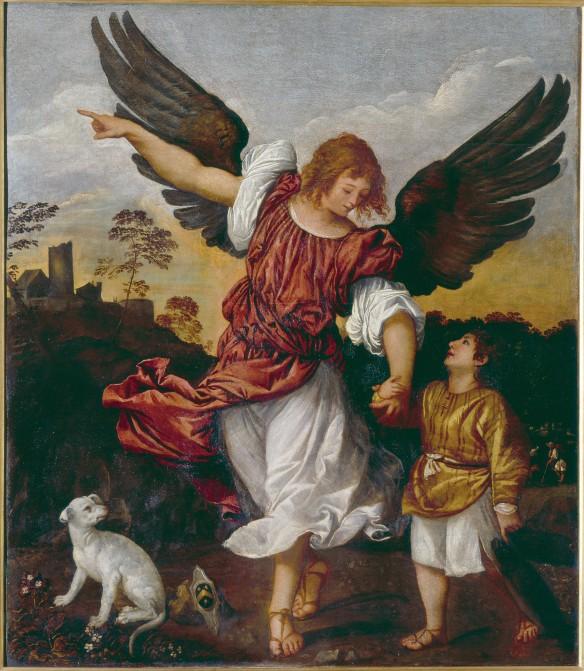 Tiziano Vecellio, Tobiolo e l'Angelo, Olio su tavola, 1512-14, Gallerie dell' Accademia, Venezia