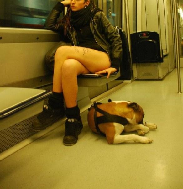 In metro