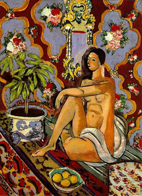 Henri É. B. Matisse - Decorative Figure on an Ornamental Ground (1925-26)