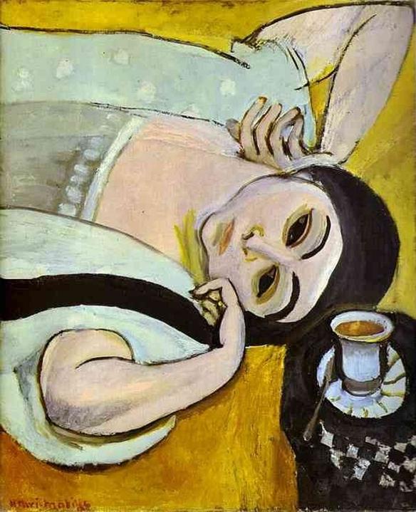 Henri É. B. Matisse -Testa di Laurette con tazza di caffè - 1917 - Solothurn, Kunstmuseum