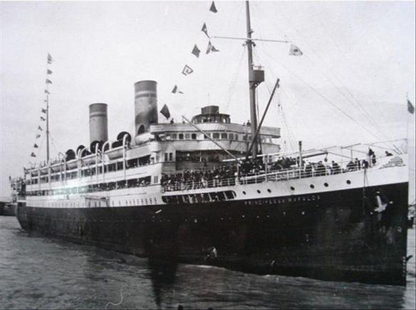 Piroscafo Principessa Mafalda - 1908 - traversata Genova Buenos Aires