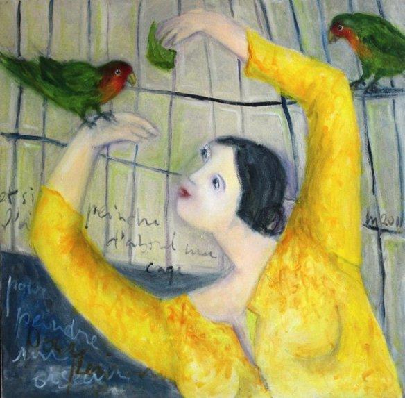 La fille aux perroquets